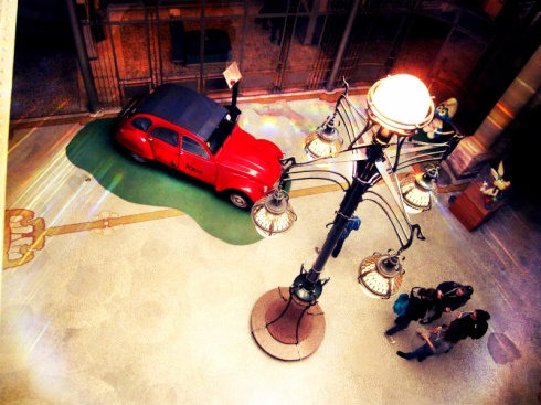 The famous Tintin Citroen 2CV in the museum's entrance