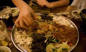 I spread the word: Go try Ethiopian Cuisine. Now!