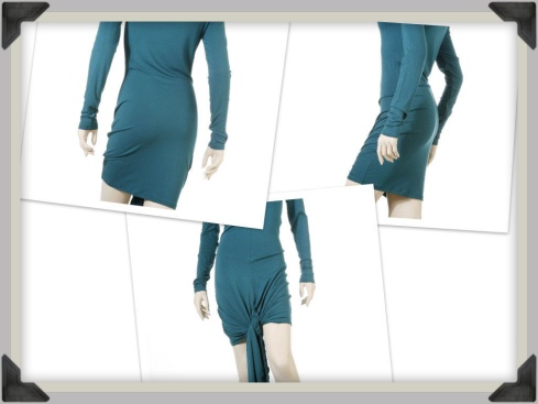 Roxy Dres// Long sleeve knee length dress, with a tie up front detail