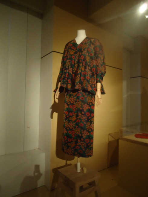 This dress is one of her last creations; given to Givenchy to thank him for his support - good example of her search for volume which is similar to the Japanese designers